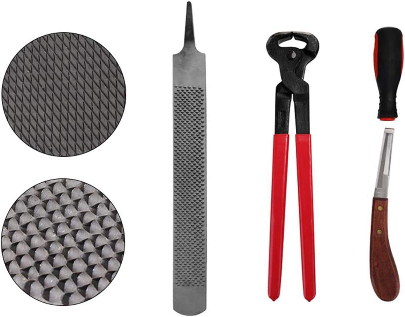 LBWNB 4 Pi/èCes Garniture de Sabot Trousse /à Outils pour Sabot Nipper Trim Outil de Ferrage Accessoire de Soin de Cheval