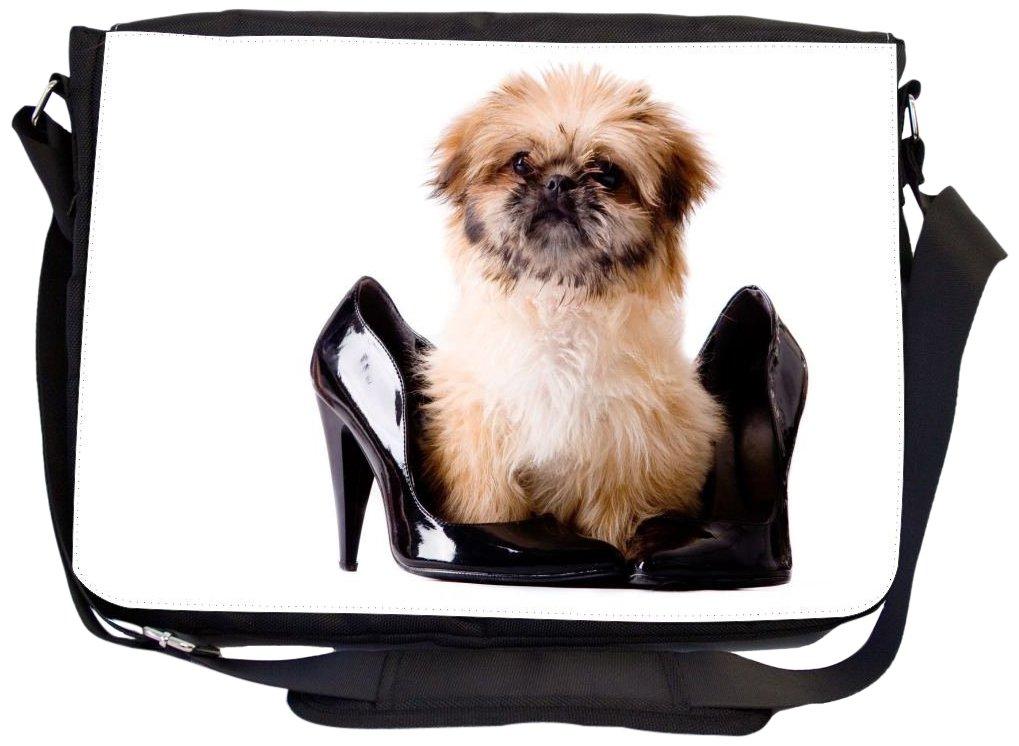 Rikki Knight Pekingese Pump Dog Design Messenger Bag with Padded Pockets UKBK mb 41