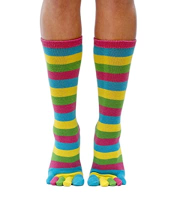 9d08e2f06068 Camino - striped toes socks