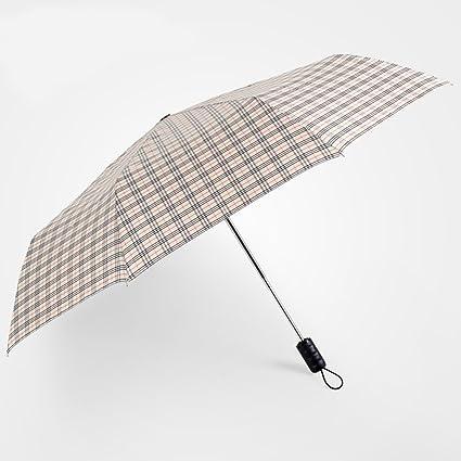 Paraguas plegable Sombrilla plegable completamente automática Sombrilla doble de negocios extra grande (Color : A