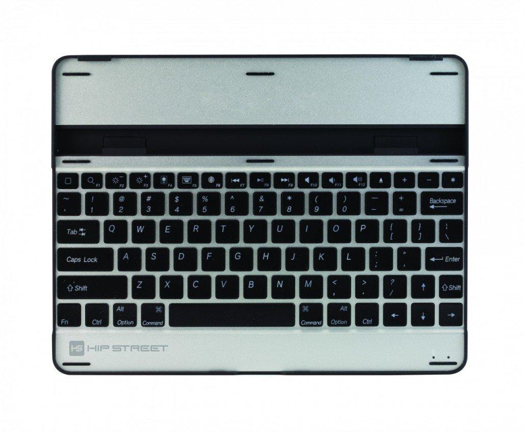 Hip Street Multimedia Wireless Bluetooth Keyboard and Case for Apple iPad 3rd Generation/iPad 2 Silver