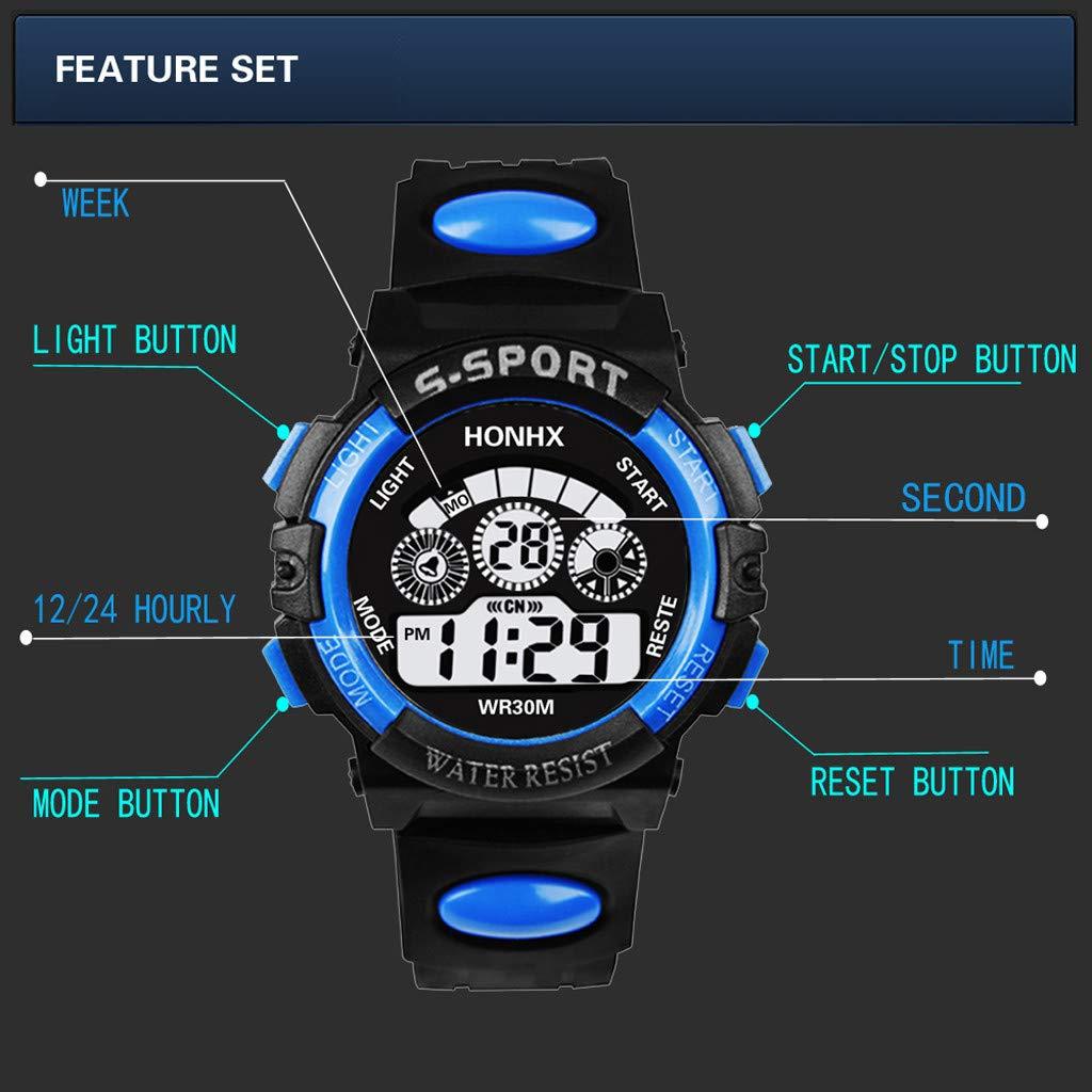 2019 Nuevo Diseño con Estilo Hombres de Lujo Analógico Digital ejército Militar Deporte lED Reloj Impermeable Reloj de Pulsera Luminoso: Amazon.es: Relojes