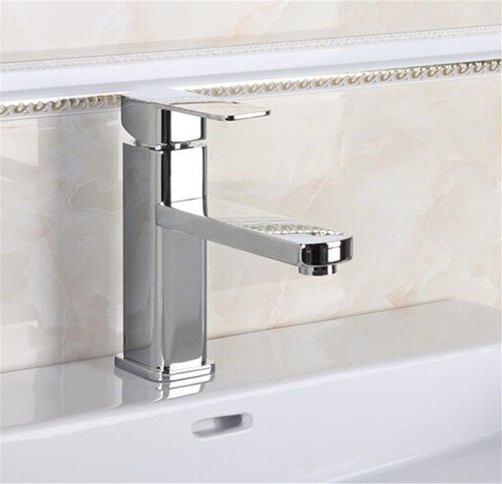 MEIBATH Waschtischarmatur Badezimmer Waschbecken Wasserhahn Küchenarmaturen Düse Warmes und Kaltes Wasser mit Einem Hebel der Einhebelsteuerung Küchen Wasserhahn Badarmatur