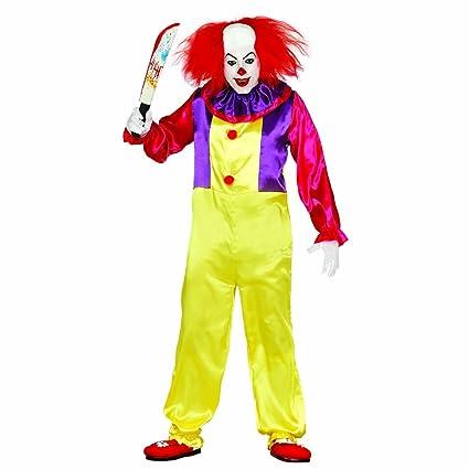 Amakando Bufón de Terror Halloween Disfraz Payaso Asesino L ...