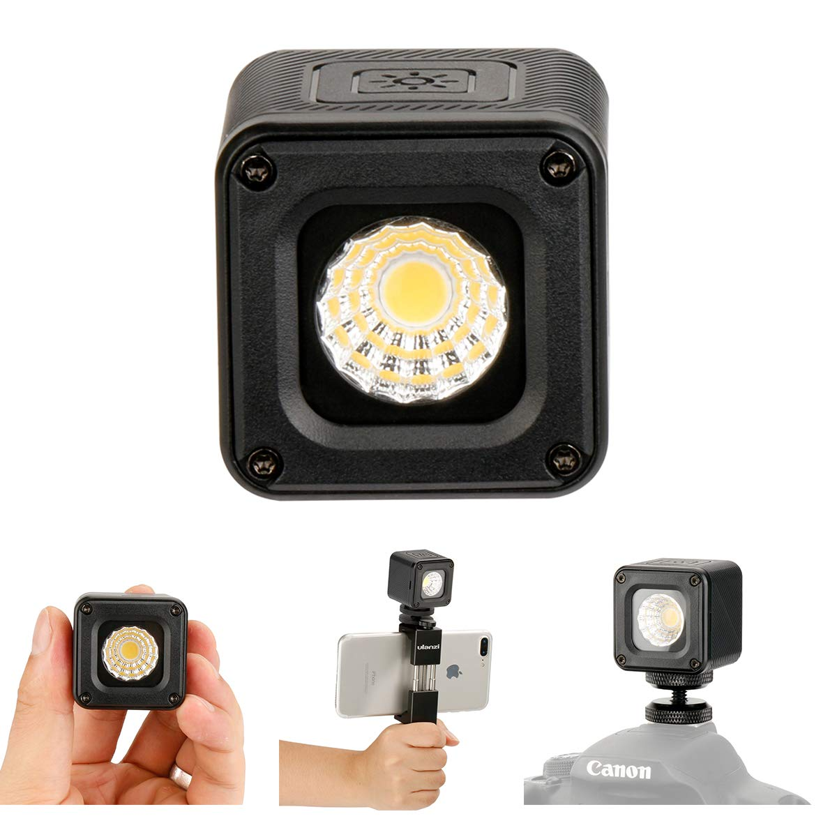 Ulanzi L1防水調整可能LEDビデオライト カメラスタジオ用 万能ライト キヤノン ニコン キャンプライト Gopro 6 5に対応   B07G23963S