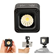 L1 Versatile Mini LED Light Waterproof Adventure LED Lighting for Smartphone Camera Drone Photography, Video, Underwater, Fits DJI OSMO Action Drone Gopro Canon 7 6 5 Nikon Camera