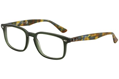 ba68eebad6 Amazon.com  Ray-Ban Men s RX5353 Eyeglasses Opal Green 50mm  Clothing