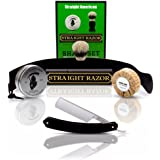 Straight American, Straight Razor with Full Shaving Set ~Shave Ready~