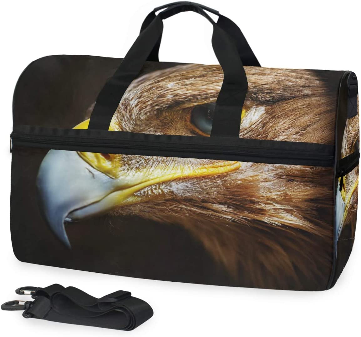 Golden Eagle Sports Gym Bag with Shoes Compartment Travel Duffel Bag for Men and Women