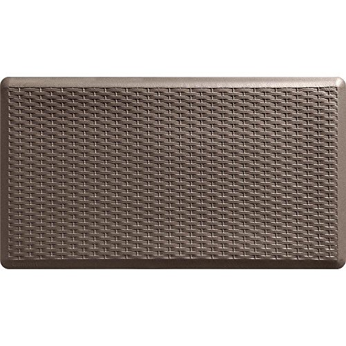 Basketweave Brown 20 in. x 36 in. Comfort Mat