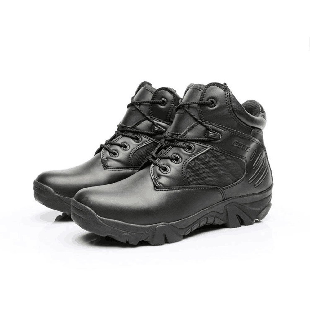 32f6a0ac8641 Men s Army Hiking Boots Military Work Boots with Side Zip  Amazon.co.uk   Shoes   Bags