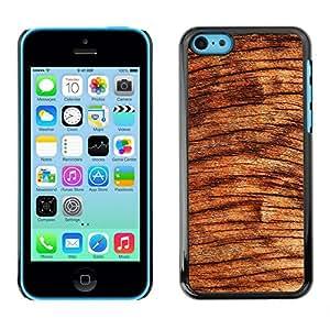 TECHCASE**Cubierta de la caja de protección la piel dura para el ** Apple iPhone 5C ** Wood Tree Circles Brown Nature Rainforest