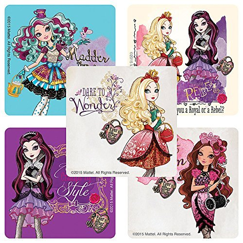 Ever After High Stickers - Birthday Party Supplies & Favors - 100 Per Pack by SmileMakers