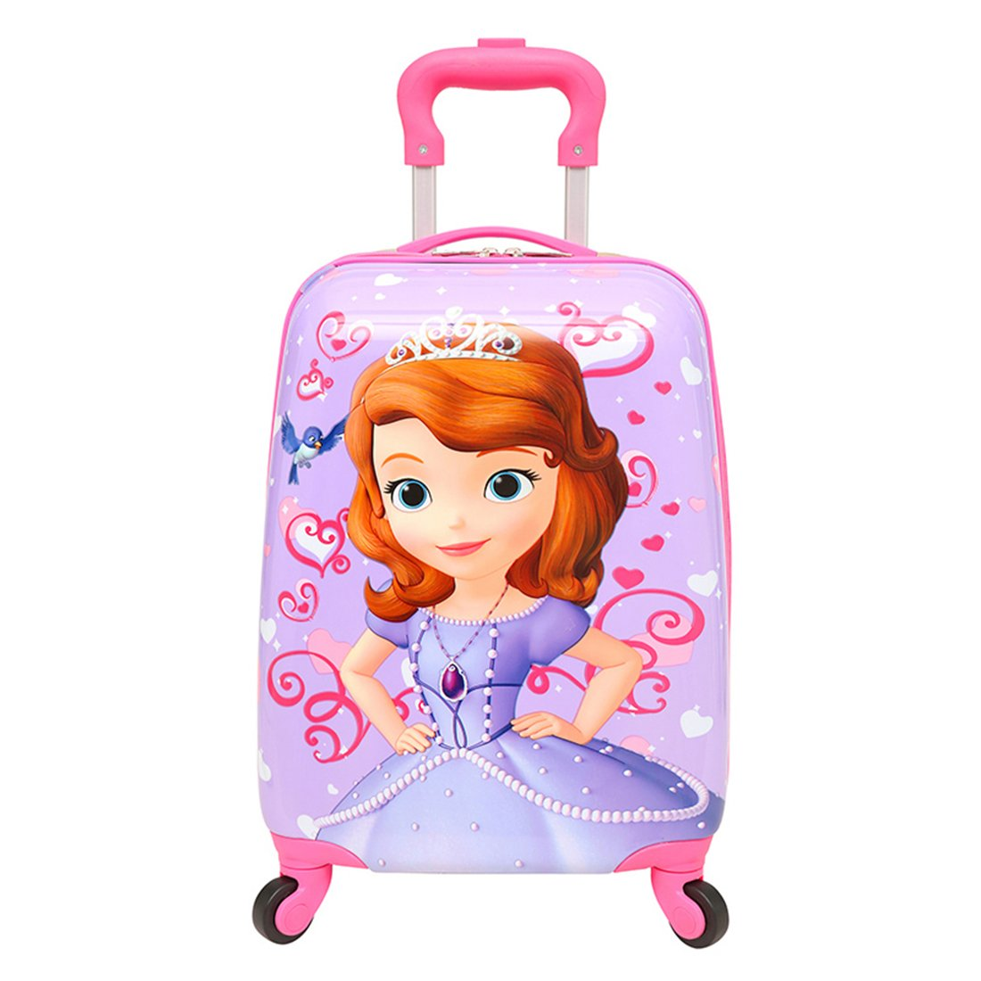 MOREFUN 18 Inch Carry on Kids Luggage Hard Side Spinner Suitcase Lightweight Wheels spiderman