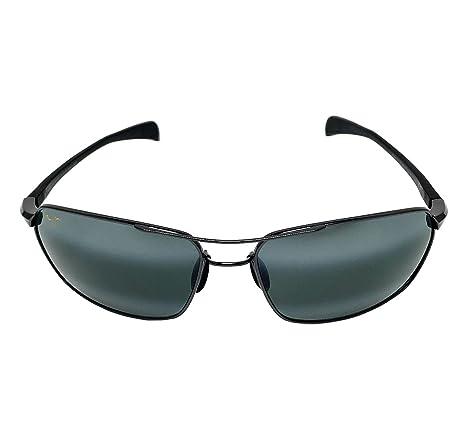 0dc3a8f495 New Maui Jim Maliko Gulch 324-02D Gunmetal Neutral Grey Polarized Sunglasses   Amazon.in  Clothing   Accessories