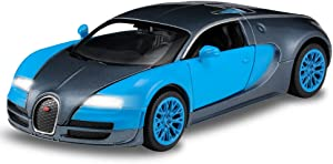 haomsj Bugatti Veyron 1:32 Alloy Diecast Model Car Toys Cars for 3 to 12 Years Old Blue