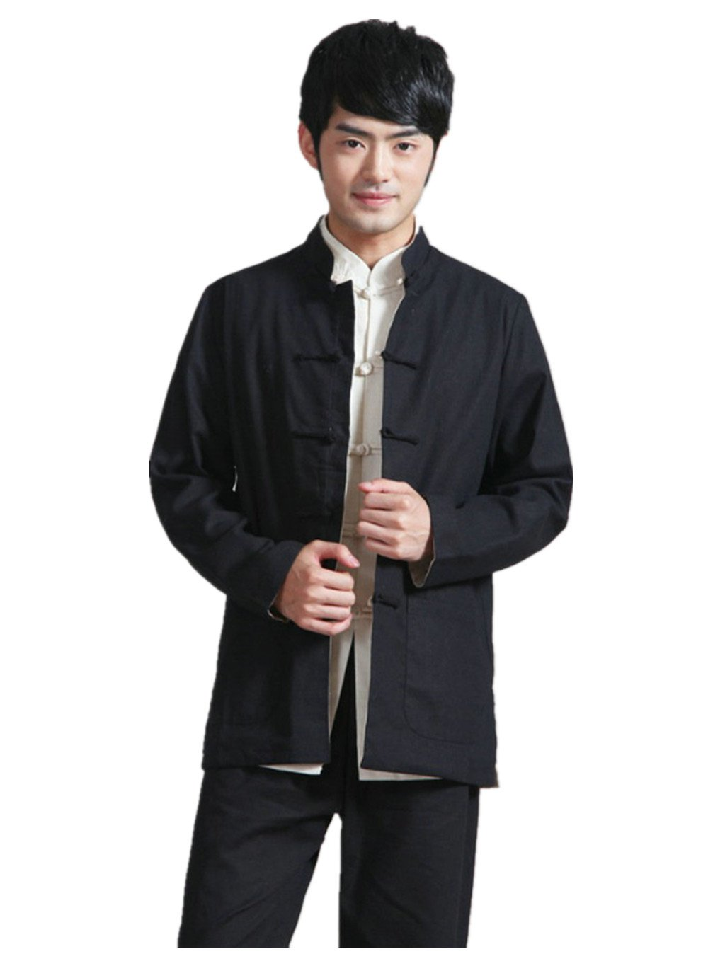 Cotton-flax Tang Suits Double-sided Wear Retro Jackets mens shirts Business Jackets Full Dress