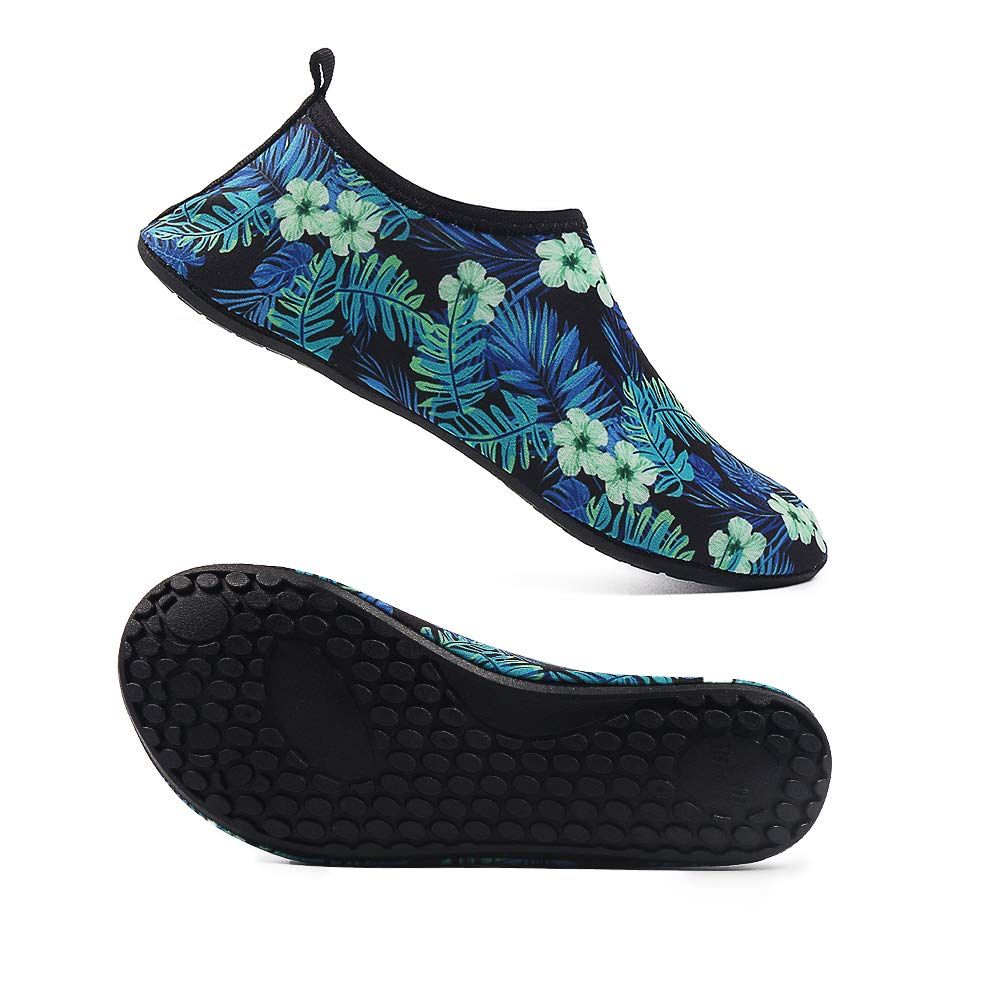 Water Shoes for Women and Men Barefoot Quick Dry Aqua Sock Shoes for Beach Swimming Surf Yoga Snorkeling (M(W:5-5.5, M:4-4.5), TS12)