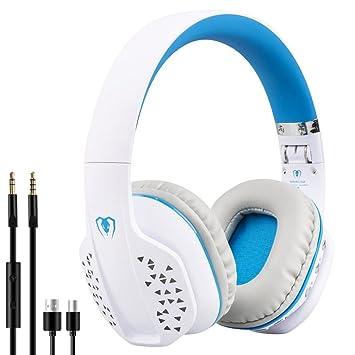 Beexcellent Bluetooth Auriculares inalámbricos para juegos por encima del oído Cancelación de ruido Auriculares plegables con