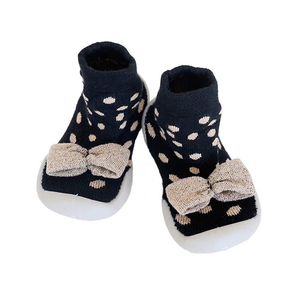 Baby Girl Shoes Socks with Rubber Soles Toddler Pre-Walker Infant Children Anti Slip Breathable Shoes Socks First Walking Moccasins 6-36 Months