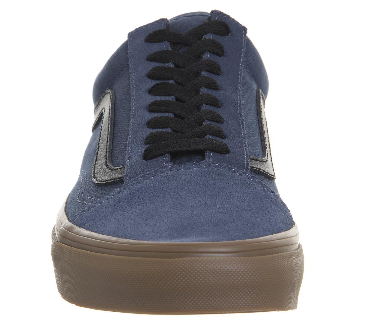 Vans Unisex Old Skool Classic Skate Shoes B078YCDGHV Boys/Mens 10 Dark Denim/Gum