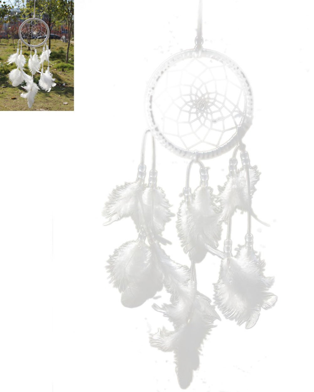 Cloud-Y Acchiappasogni/ Dreamcatcher indiano con piume/ 15.75'-17.72'