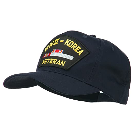 d9464c6c980 E4hats WWII Korean Veteran Patched Cotton Twill Cap - Navy OSFM at ...