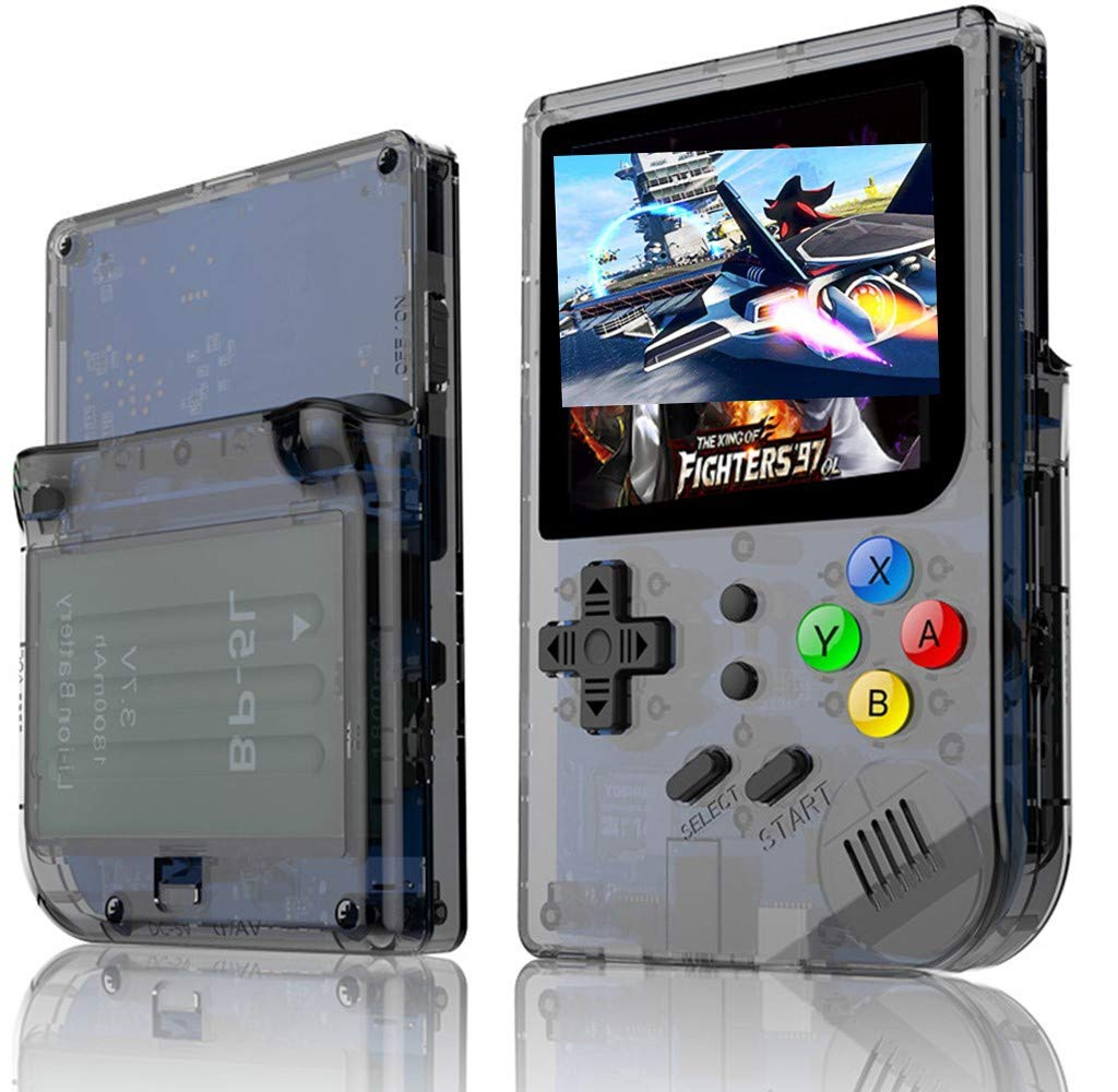 3 INCH Video Games Portable Retro FC Console New BittBoy Retro Game Handheld Games Console Player RG 300 16G 3000 Games Best Gift (Black) by Neutral (Image #1)