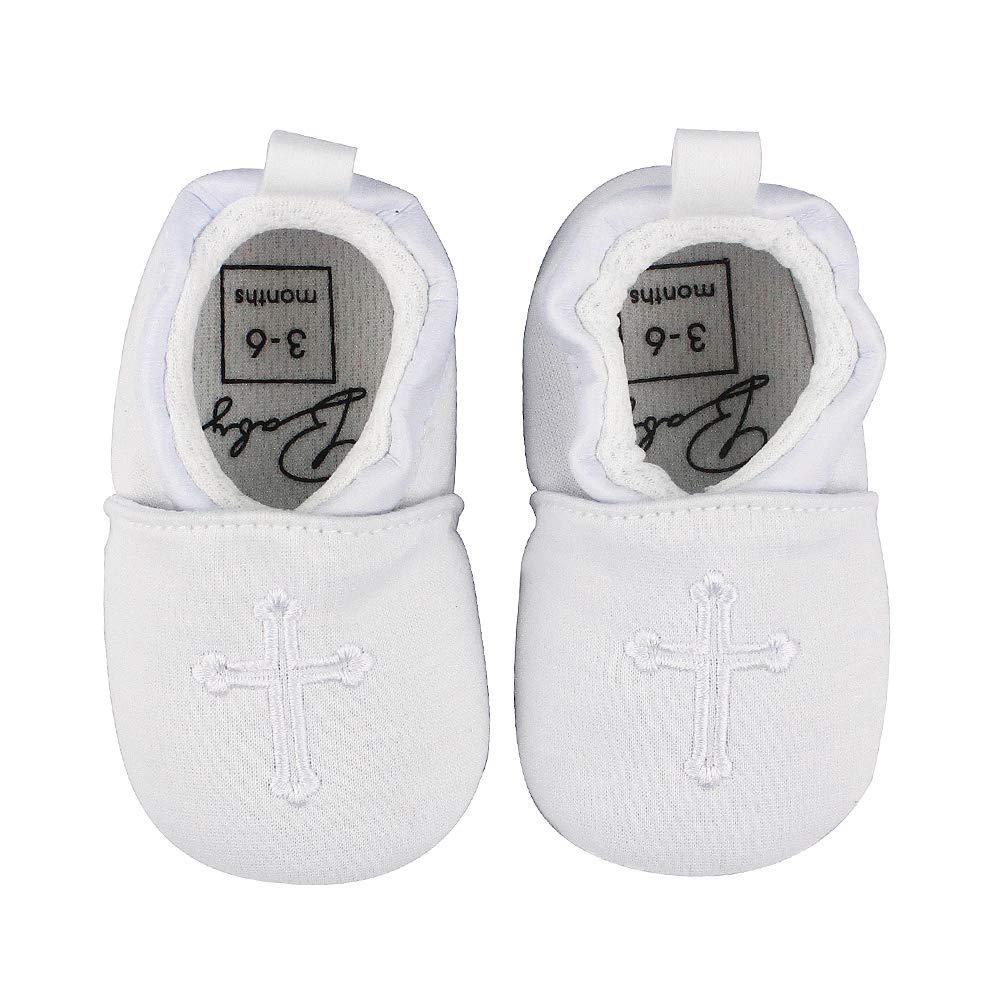 Baby Boys Girls Premium Soft Sole Christening Baptism Church Cross Slipper Crib Shoes, 3-6 Months by Estamico (Image #6)