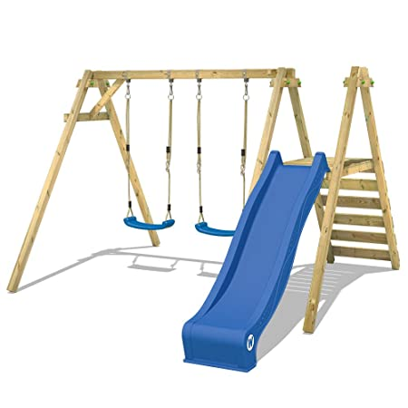 WICKEY Swing with Slide Smart Dash Garden Swing Set Swing Frame with ...