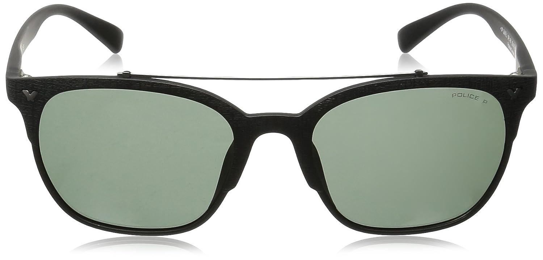 Police occhiali da sole SPL161/Game 5/Wayfarer occhiali da sole polarizzati 53/mm semi opaco nero