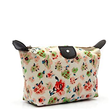 Amazon.com: Women Travel Make Up Cosmetic Pouch Bag Clutch Vintage Floral Printed Zipper Handbag Ladies Casual Purse Cosmetic Bags,B: Beauty