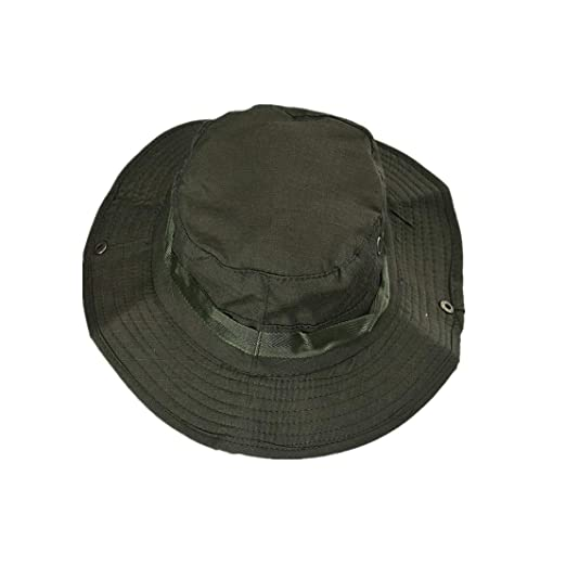 63028396528133 NEEKEY Bucket Hat Boonie Hunting Fishing Outdoor Cap Brim Military Army  GN(Free Size,