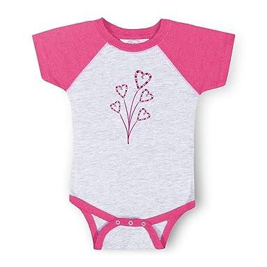 5e6f71cf9d85 Amazon.com  Light Pink Heart Plants Boys-Girls Cotton Baby Baseball ...