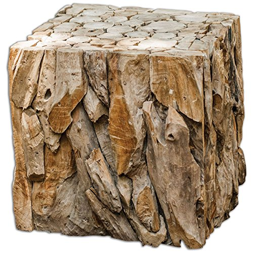 (Uttermost 25592 Teak Root Bunching Cube)