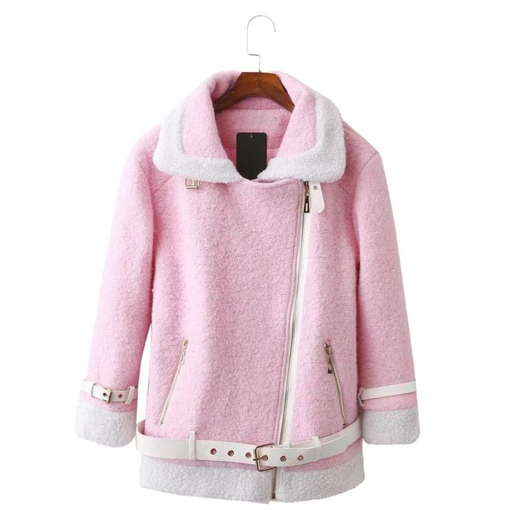 Pandaie Jacket,Casual Women Overcoat Clothing Figuring Overcoat Long Lambswool Zipper Jacket