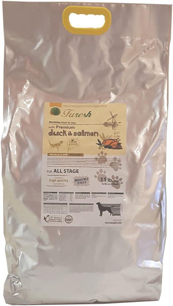 Furesh Dry Dog Food w Premium Duck Salmon, 11 lbs- 50 Inner Bags
