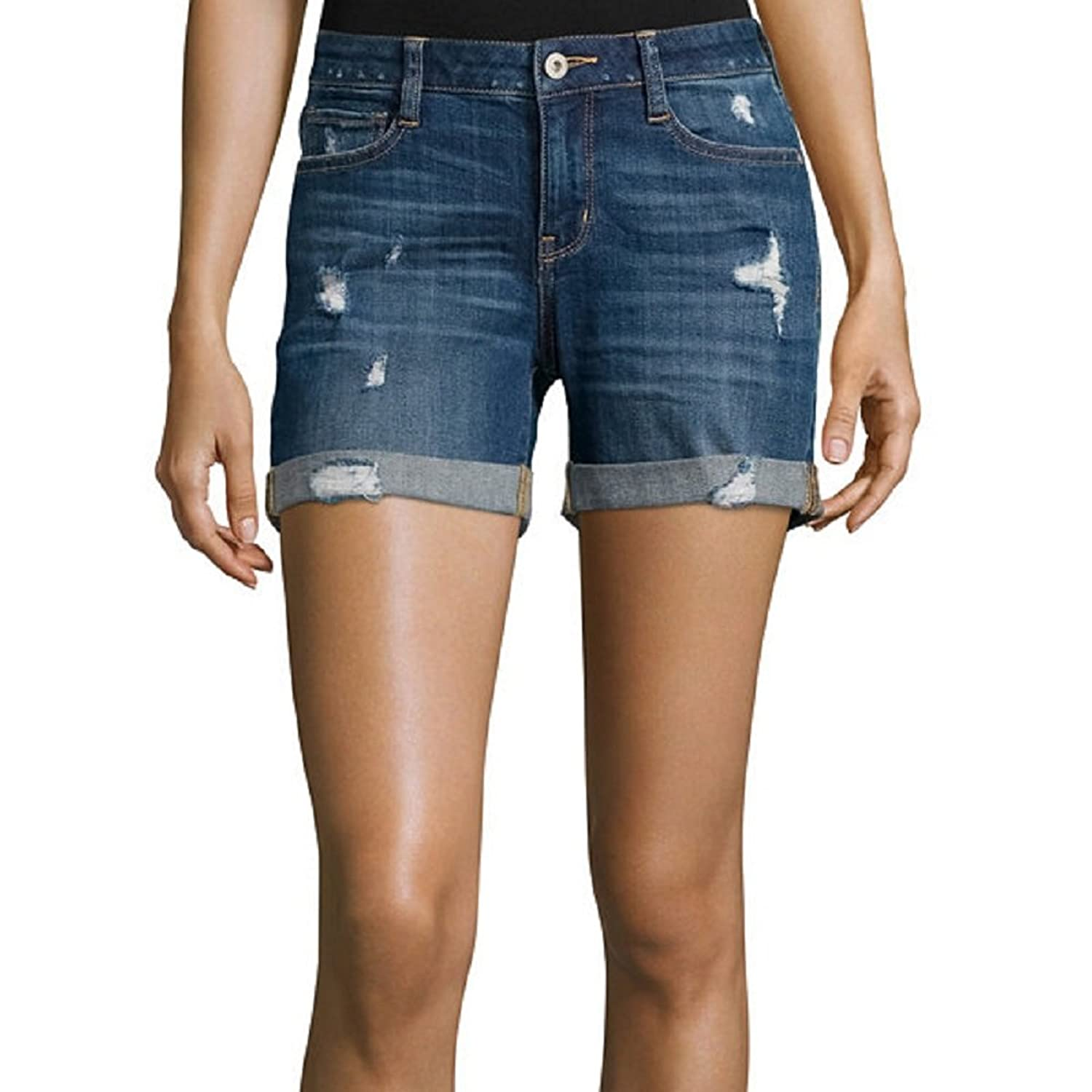 Arizona Destructed Boyfriend Shorts Juniors Size 9 New Riot