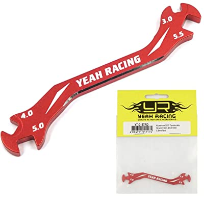Aluminum 7075 Turnbuckle Wrench 3mm 4mm 5mm 5.5mm Red / Yeah Racing / YT-0197RD: Toys & Games
