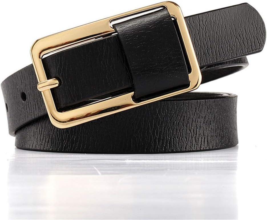 Color : Black, Size : Free Size Afdgsjyu Womens Belt Womens Leather Beladies Belt Skinny Elastic Waist Belt Stretch Cinch Belt Thin Belt Leather Belts
