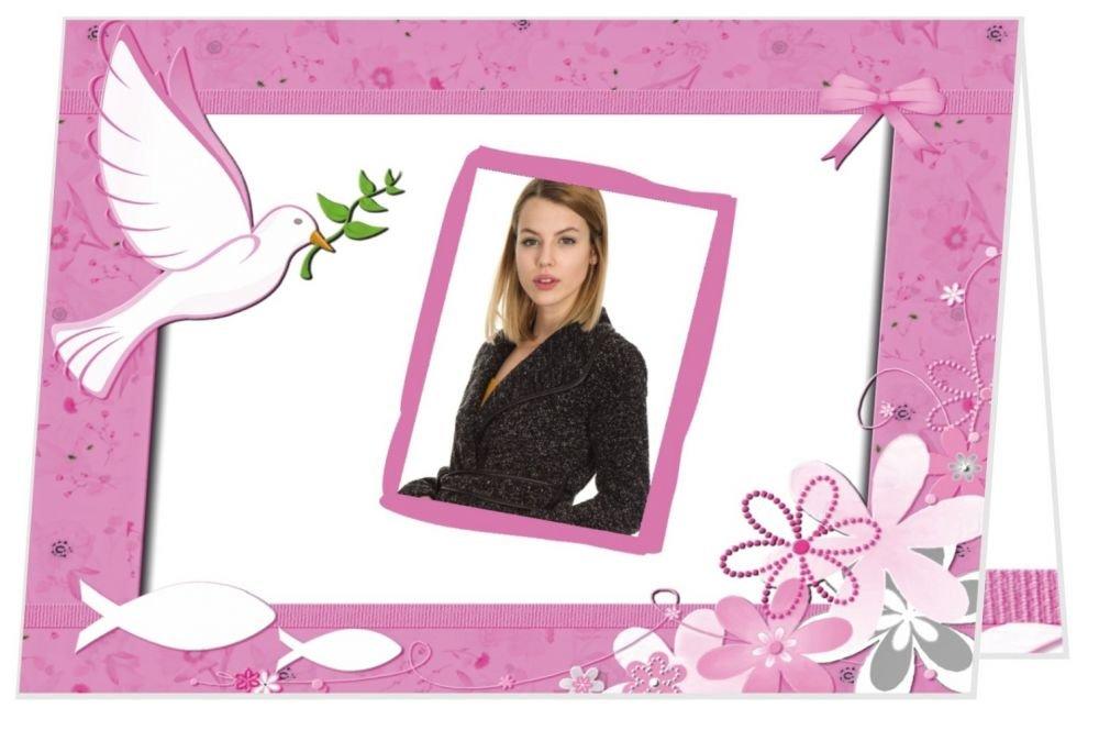 Danksagungskarten Dankeschön zur Konfirmation Mädchen - mit Foto und Text ändern, 90 Stück, 14,8 x 10,5 cm zugeklappt B07B7PKBZX | Verschiedene aktuelle Designs  | Neuer Stil  | Komfort