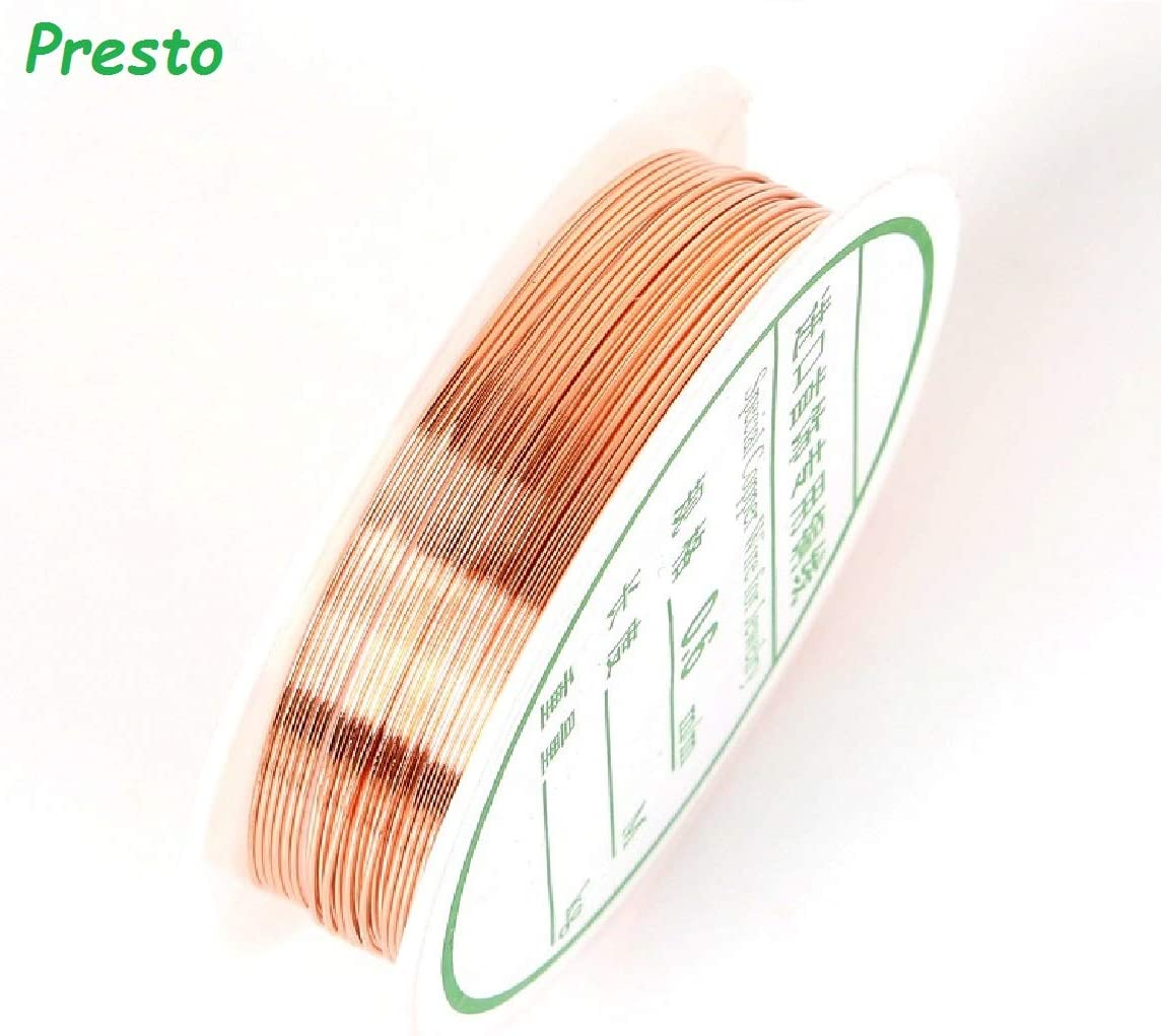 Copper Wire 0.8//1mm Silver Gold Color Alloy Cord Beading Wire DIY Craft Making Jewelry Cord String Copper Wire Accessories Copper, 0.8mm 3meter
