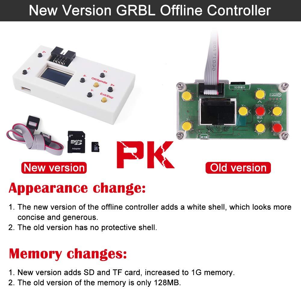 module de commande hors ligne routeur Yofuly GRBL Hors ligne de travail /écran /à distance LCD LCD pour routeur de bois de gravure laser CNC Contr/ôleur hors ligne CNC