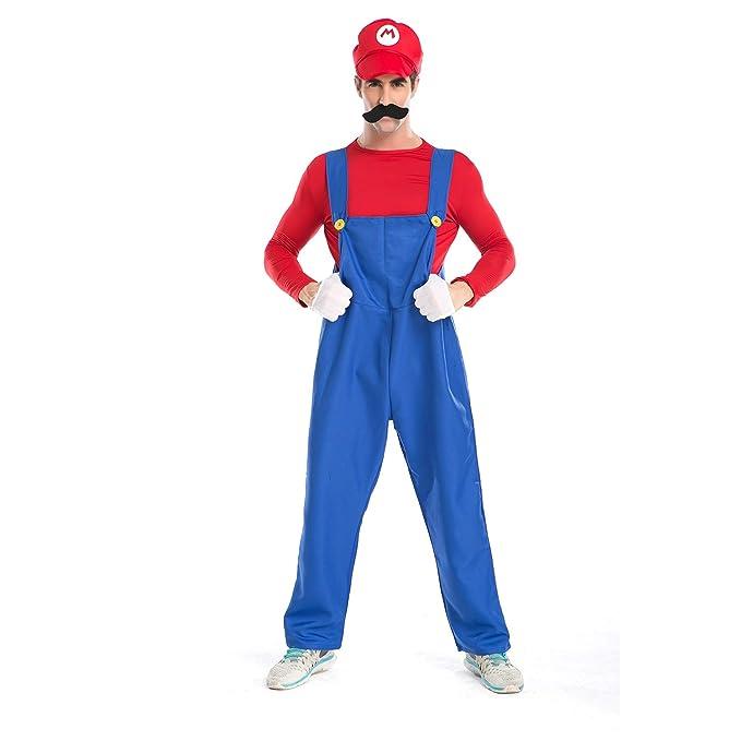 Amazon.com: Minetom - Disfraz unisex de Super Mario clásico ...