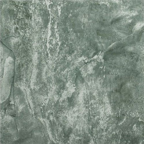 1 Tile Box - Creative Home: Nexus Vinyl Self Stick Tile: 422 Verde Marble Vein: 1 Box 20 Tiles: Covers 20 Sq. Ft.