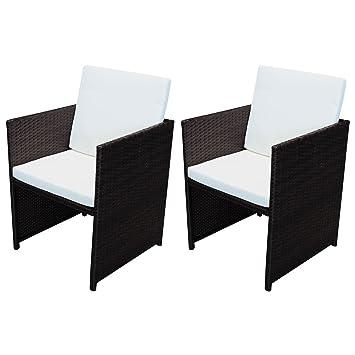 Amazon De Svita Poly Rattan Tisch Stuhle Gartentisch Rattan Tisch