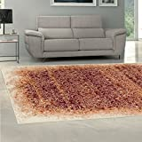 Cheap Superior Quality Soft, Plush and Durable 10mm Moisture and Mildew Resistant Apollonia Collection Area Rug, 8′ x 10′ Orange