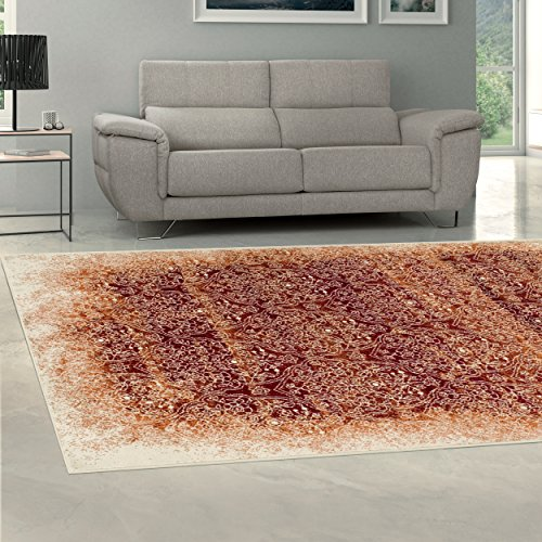 Superior Quality Soft, Plush and Durable 10mm Moisture and Mildew Resistant Apollonia Collection Area Rug, 8' x 10' Orange - Plush 10' Bright Eyes