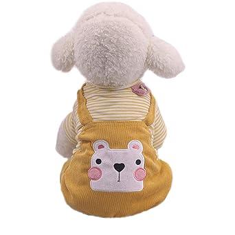 Ropa para Mascotas,Dragon868 Caliente Invierno algodón de Dibujos Animados Oso patrón de Cuatro Patas Rayas Perro Mascota Abrigos: Amazon.es: Ropa y ...