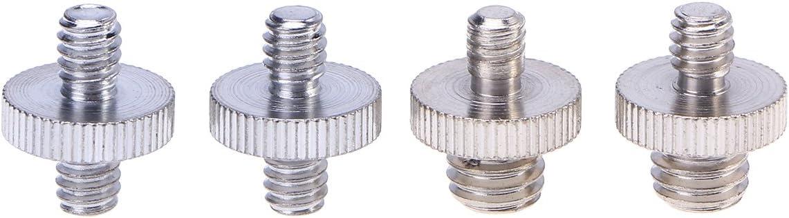 4PCS Practical Durable Convenient Convert Screw Accessory 1//4 Male to 1//4 Male Threaded 1//4 Male to 3//8 Male Threaded for Monopod Ballhead Tripod Camera